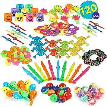 THE TWIDDLERS 120 Pcs Juguetes de Fiesta a Granel Infantil - Relleno Piñatas y Bolsas de Fiesta, Regalo de Cumpleaños - Infantiles del Partido Favor ...