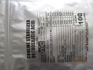 100 Grams Choline-Stabilized Orthosilicic Acid Powder (Organic Silicon)