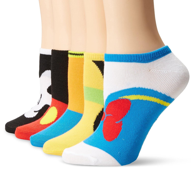 Disney Womens Classic 5 Pack Socks Image 2