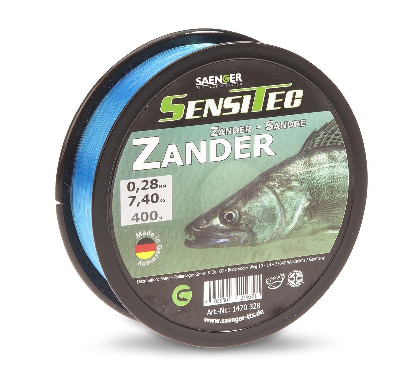 tarn blau 6,25kg SENSITEC Zander /Ø 0,25mm Farbe 400m New 2018 Angelschnur monofil S/änger