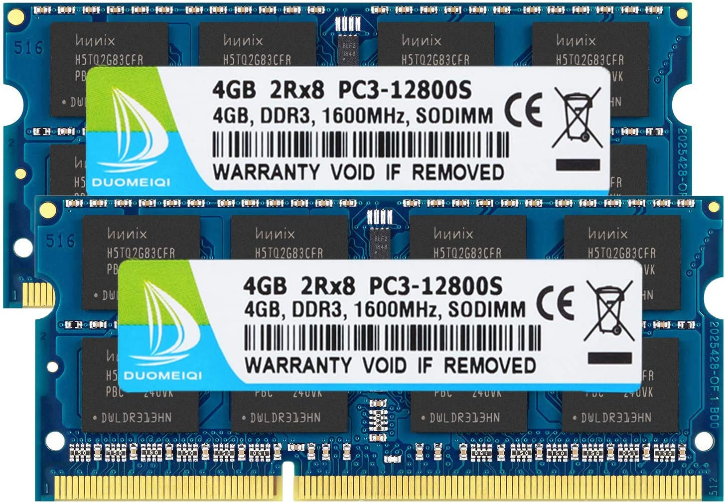 DUOMEIQI 8GB Kit (2 X 4GB) 2RX8 PC3-12800 PC3-12800S DDR3 1600MHz SO-DIMM CL9 204 Pin 1.5v Non-ECC Unbuffered Laptop Memory Notebook RAM Module for Intel AMD and Mac Computer