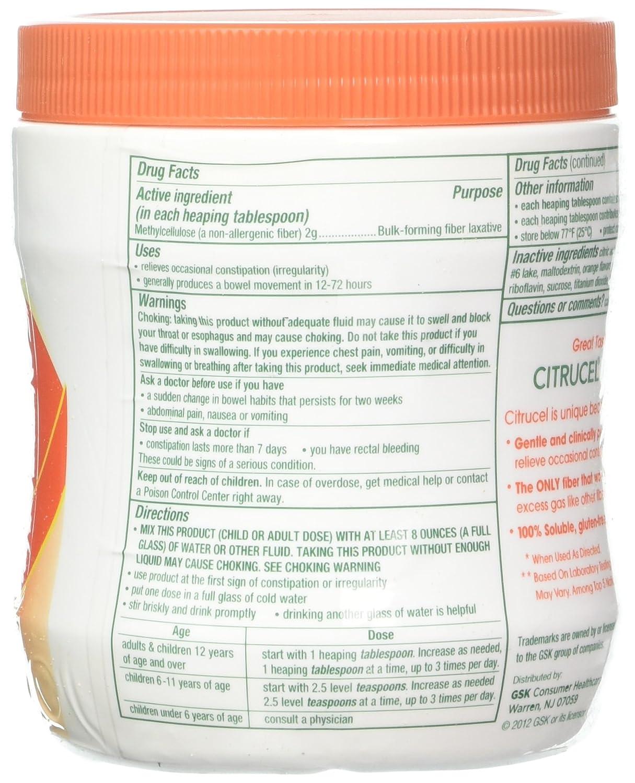 Citrucel Nutrition Label - Nutrition Ftempo