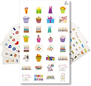 Planner Stickers Pack by StriveZen, Calendar Stickers, 512 Cute Stickers, Productivity, Birthday, Holidays, Motivational Stickers, Essential Living