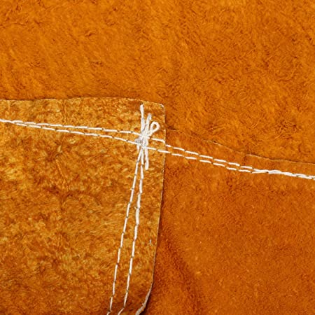 MASUNN Soldadura De Vaca Cuero Delantales Aislamiento Térmico Protección Soldadores Herrero 93X64Cm: Amazon.es: Hogar