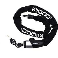 KIIQOO - Candado antirrobo para bicicleta, candado de moto, candado exterior, candado antirrobo para patinete, portón…