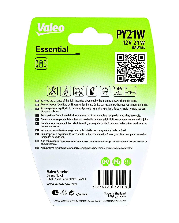 Valeo 32108 Lampadina PY21W Set di 2