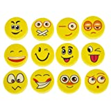 Amazon Price History for:Lot Of 72 Assorted Round Emoji Face Erasers