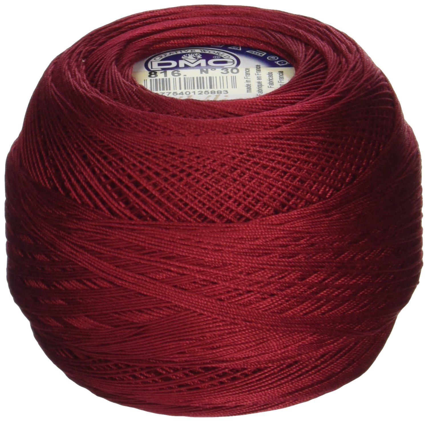 DMC 167GA 30-816 Cebelia Crochet Cotton, 563-Yard, Size 30, Garnet Notions - In Network