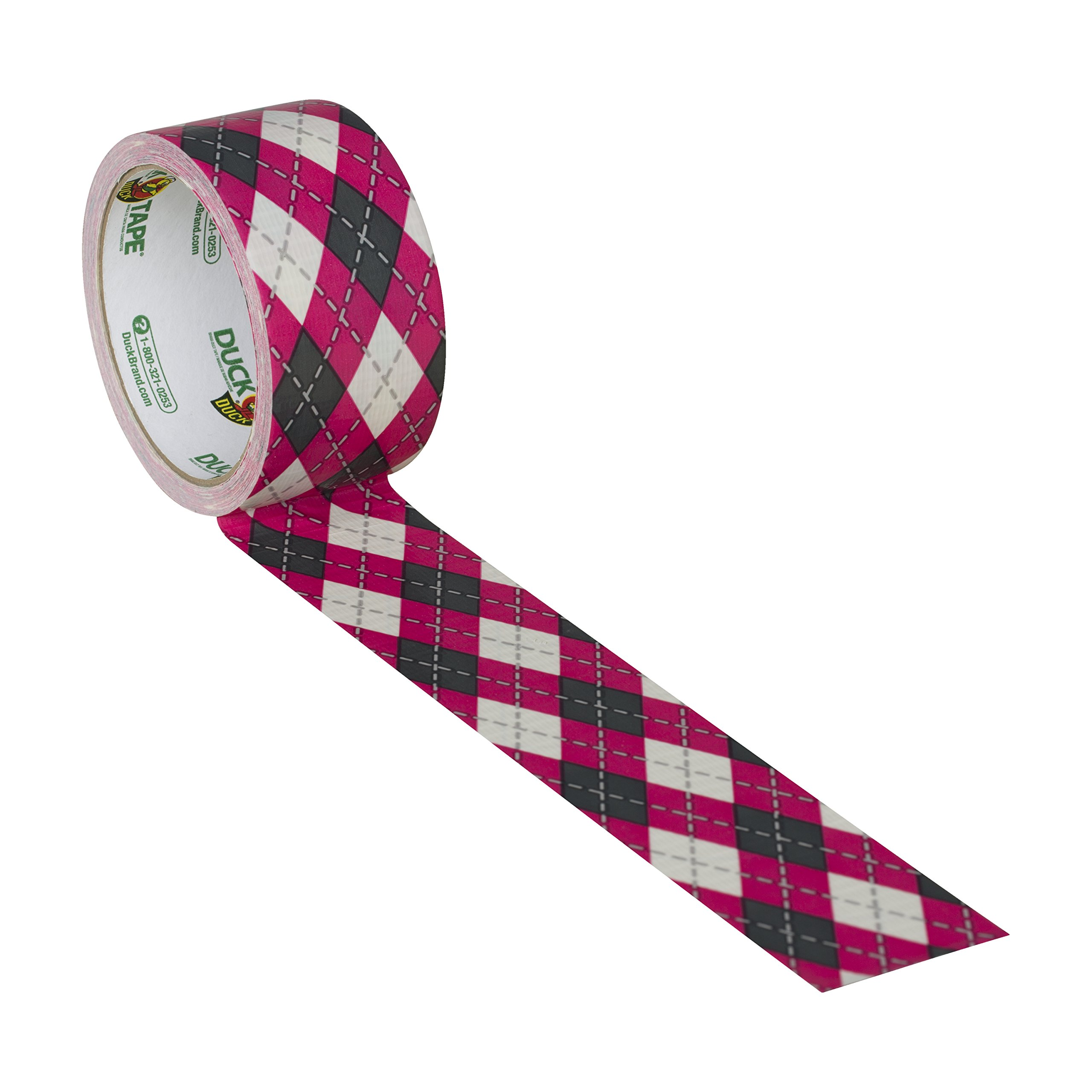 Duck Brand 280977 Printed Duct Tape, Pink Argyle, 1.88 Inches x 10 Yards, Single Roll by Duck (Image #4)