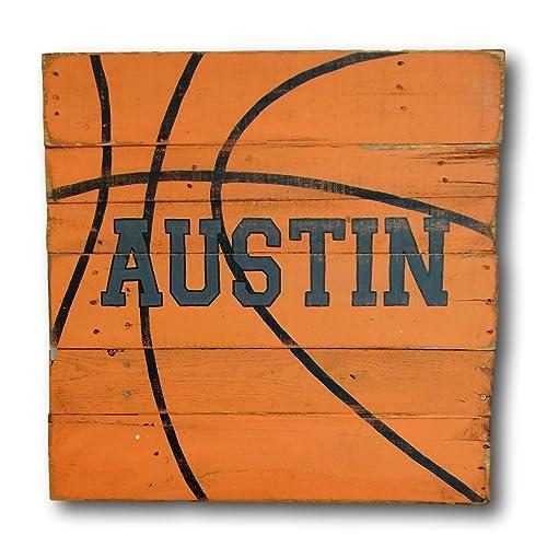 17f2c9cbb21ec Amazon.com: Basketball Sign / Wood Sports Sign / Boys Room Decor ...