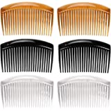 6 Pcs French Twist Comb Plastic Side Hair Combs with 23 Teeth Hair Comb Hair Clip Combs for Fine Hair Accessory for Women