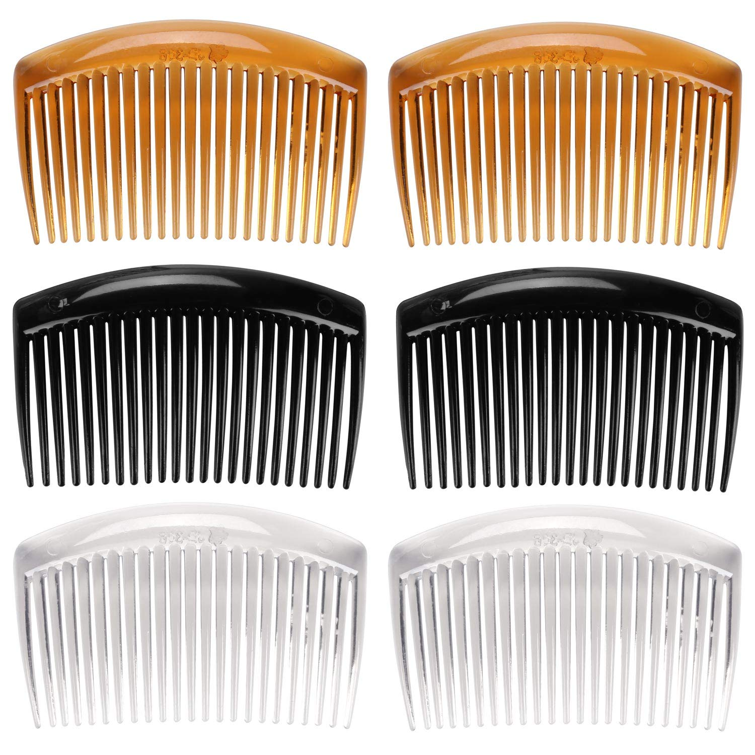 6 Pcs French Twist Comb Plastic Side Hair Combs with 23 Teeth Hair Comb Hair Clip Combs for Fine Hair Accessory for Women : Beauty