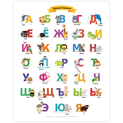Russian Alphabet Poster By Pictureta