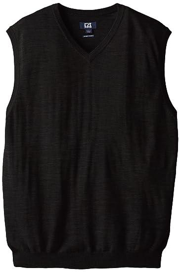 Amazoncom Cutter Buck Mens Big And Tall Douglas V Neck Sweater