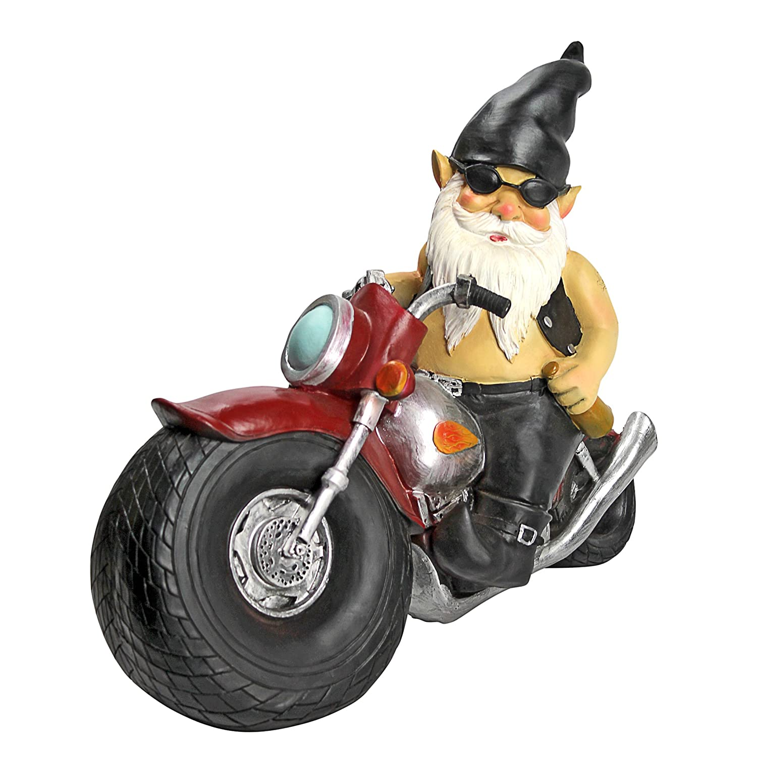 Amazon.com : Garden Gnome Statue   Axle Grease The Biker Gnome   Wild Gnome  Statues   Gnome On Motorcycle Statue : Motorcycle Gnome : Garden U0026 Outdoor