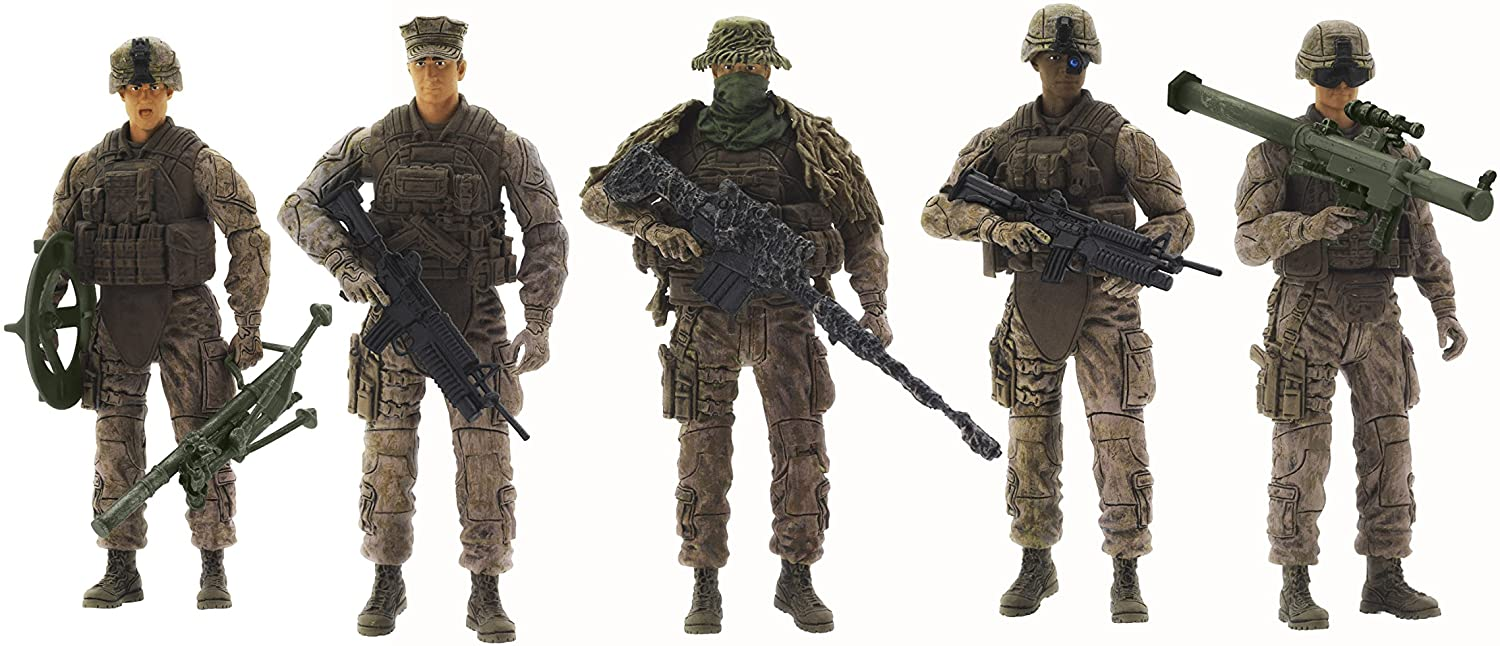 Elite Force Marine Recon Action Figures – 5 Pack Military Toy Soldiers Playset | Realistic Gear and Accessories – Sunny Days Entertainment