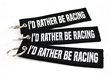 CG KeyTags ID Rather Be Racing - Llavero para Coche, Moto ...