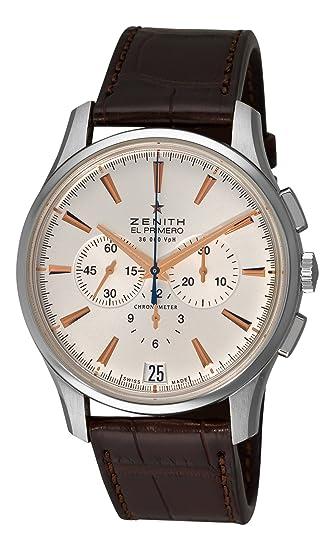C498 reloj mecánico automático para hombre: Zenith: Amazon.es: Relojes