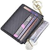 Womens Slim RFID Credit Card Holder Mini Front Pocket Wallet Coin Purse Keychain