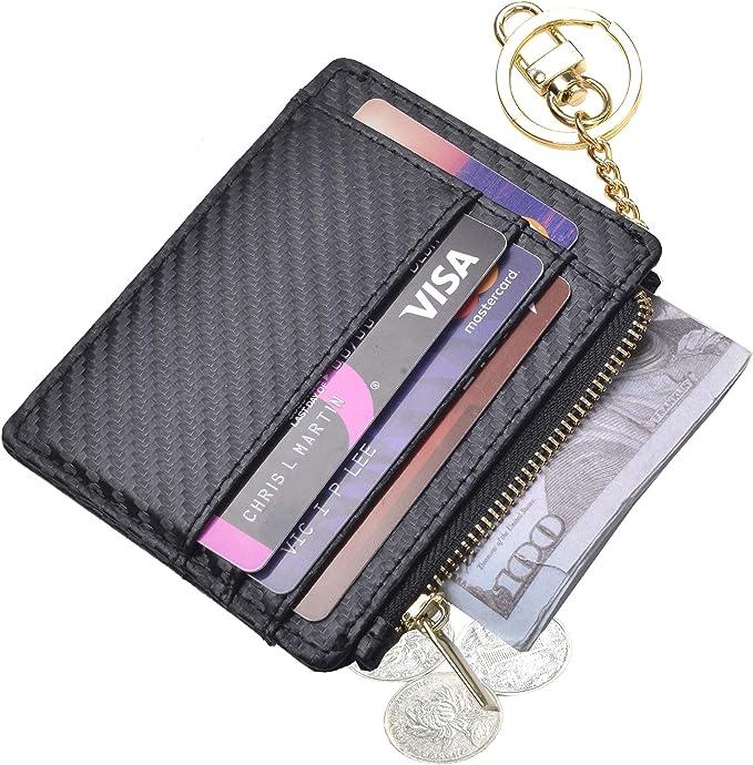 Amazon.com: Llavero delgado RFID para tarjetas de crédito ...