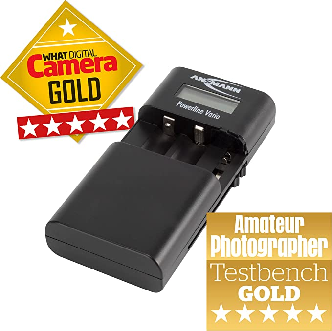 Ansmann Powerline Vario Universal Ladegerät Kamera