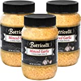 Botticelli Fresh Minced Garlic In Jar with Extra Virgin Olive Oil - Ready-to-Use Bottled Garlic in Olive Oil for Sauces, Dres