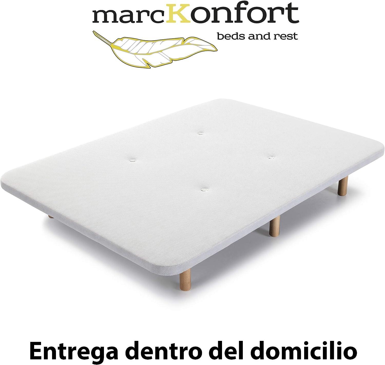 5 Barras Transversales reforzadas Entrega Dentro del Domicilio marckonfort Base tapizada con Tejido 3D 90X200 y V/álvulas de transpiraci/ón