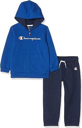 Champion Hooded Full Zip Suit Chándal para Niños: Amazon.es: Ropa ...