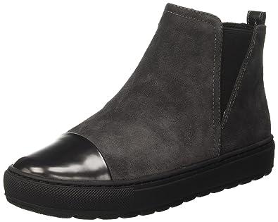 GEOX Breeda Stiefeletten grau Damen Schuhe Synthetik Leder