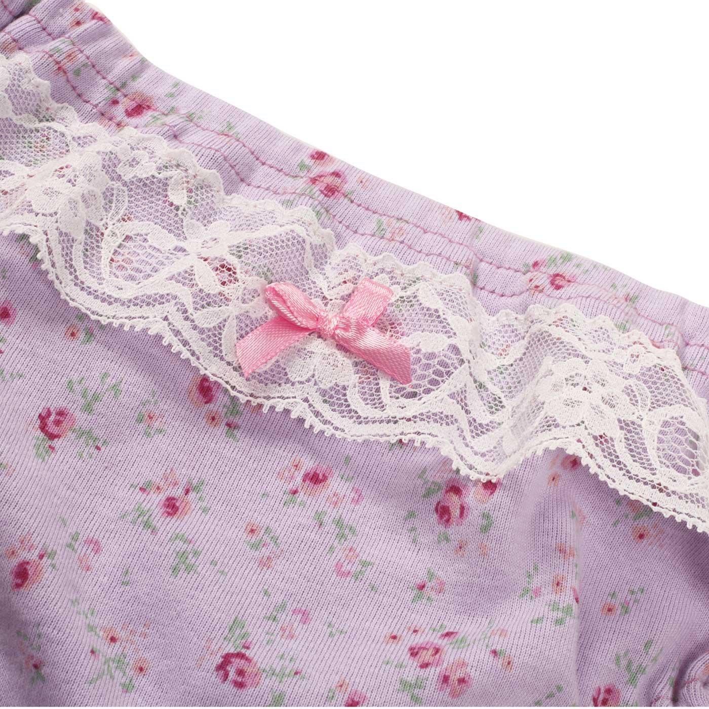 Toddler Kids Underwear Soft Brief Panties Cotton Flower Purple Pink Underwear for Girls 3t L