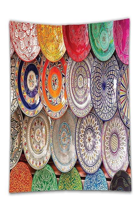 interestlee satinado (mantel? Boho colorido decoración tradicional ...
