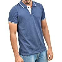 Ruffty Mens Cotton Polo,Collar Half Sleeve Tshirt