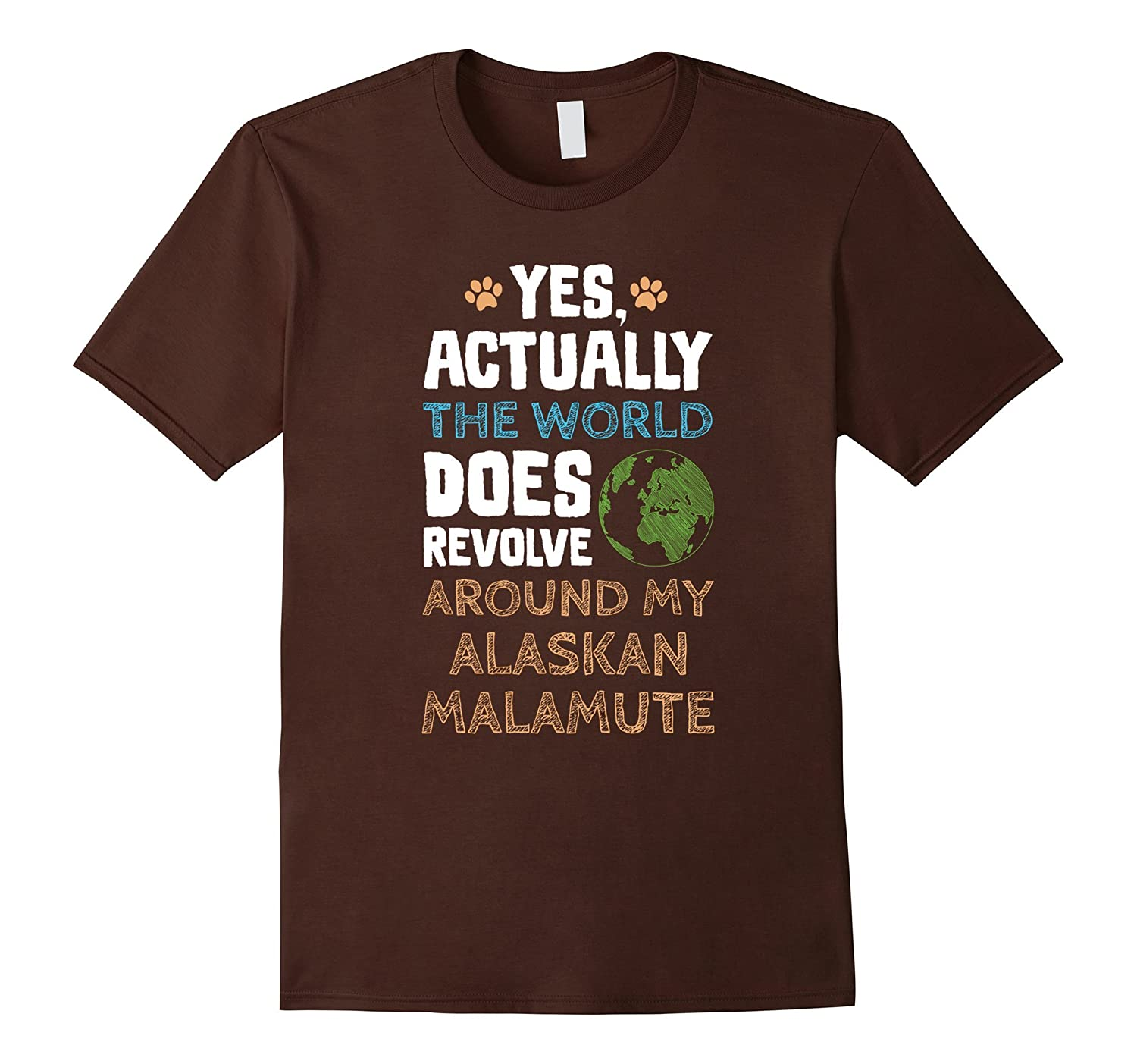 Funny Alaskan Malamute Dog T-Shirt-Art