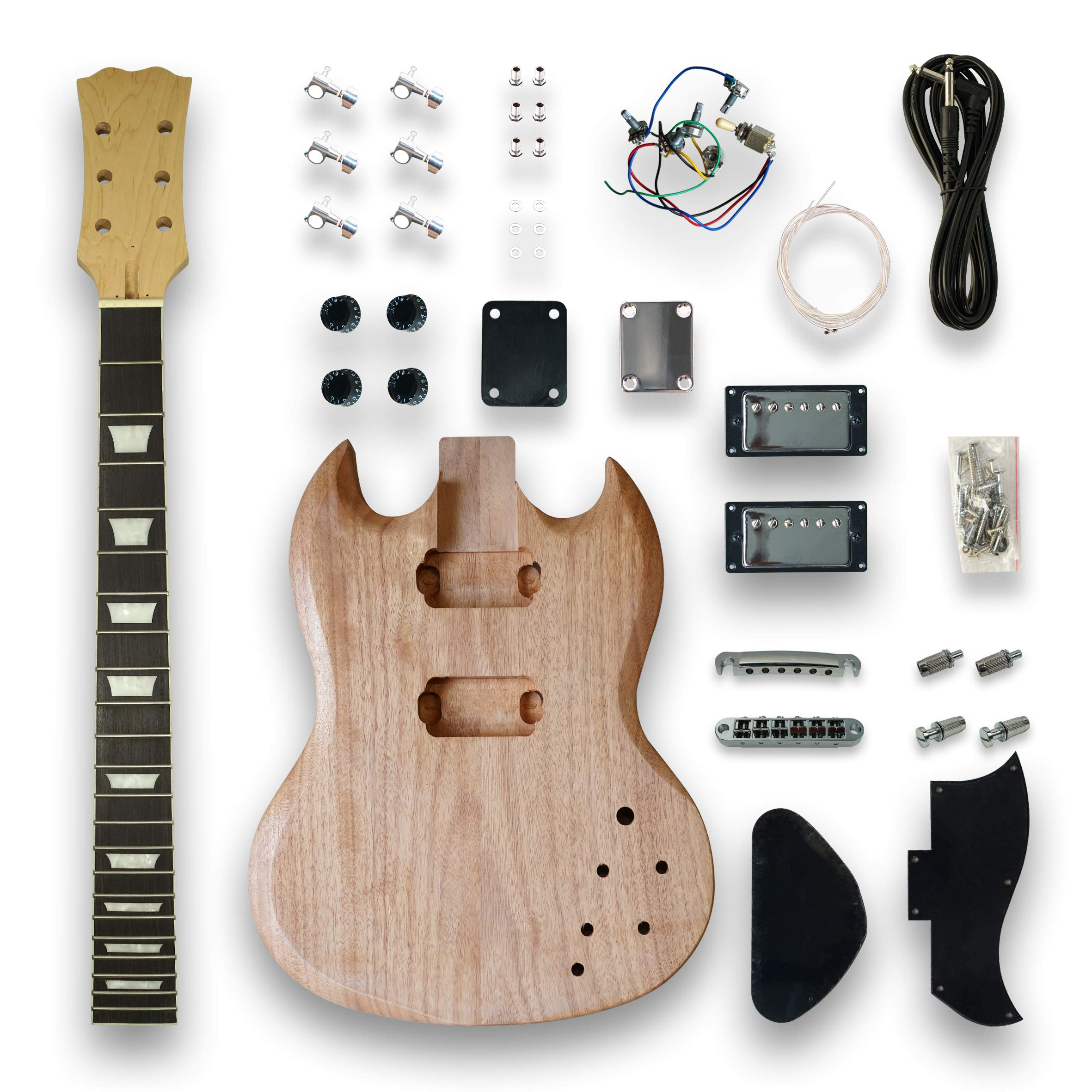DIY Electric Guitar Kits for SG Style Guitar, okoume wood Body by Unknown