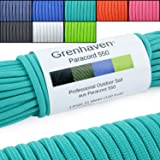 Grenhaven Tear-Proof Paracord Rope / Universal Survival Cord - 7 Cords 30m/100ft 550lbs Capacity turquoise - Warning: Not Suitable for Climbing