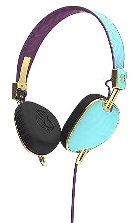 Skullcandy Knockout Women's Range On-Ear Headphones with Mic - Robin/Smoked  Purple/Gold