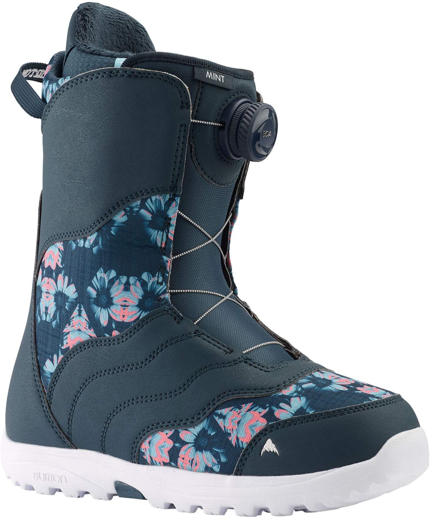 Burton Mint BOA Snowboard Boots Womens Sz 6.5 Midnite Blue/Multi by Burton
