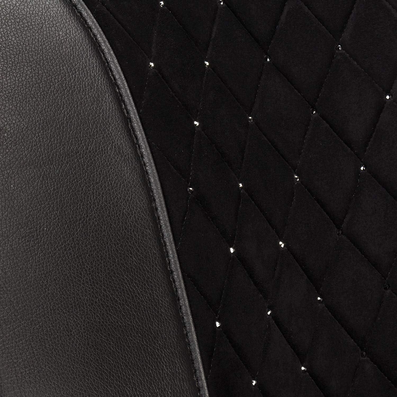 Trucks and SUVs LUNNA SWR-0742 Jet Black Premium Sideless Universal Car Seat Cover Featuring Swarovski Crystals for Sedans