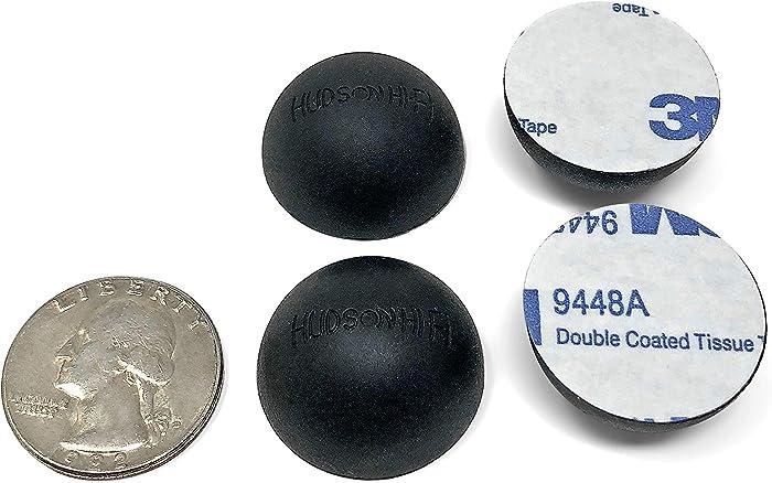 "1"" Platinum Silicone Hemisphere Bumper, Non-Skid Isolation Feet with Adhesive | 20 Duro | 4 Pack"