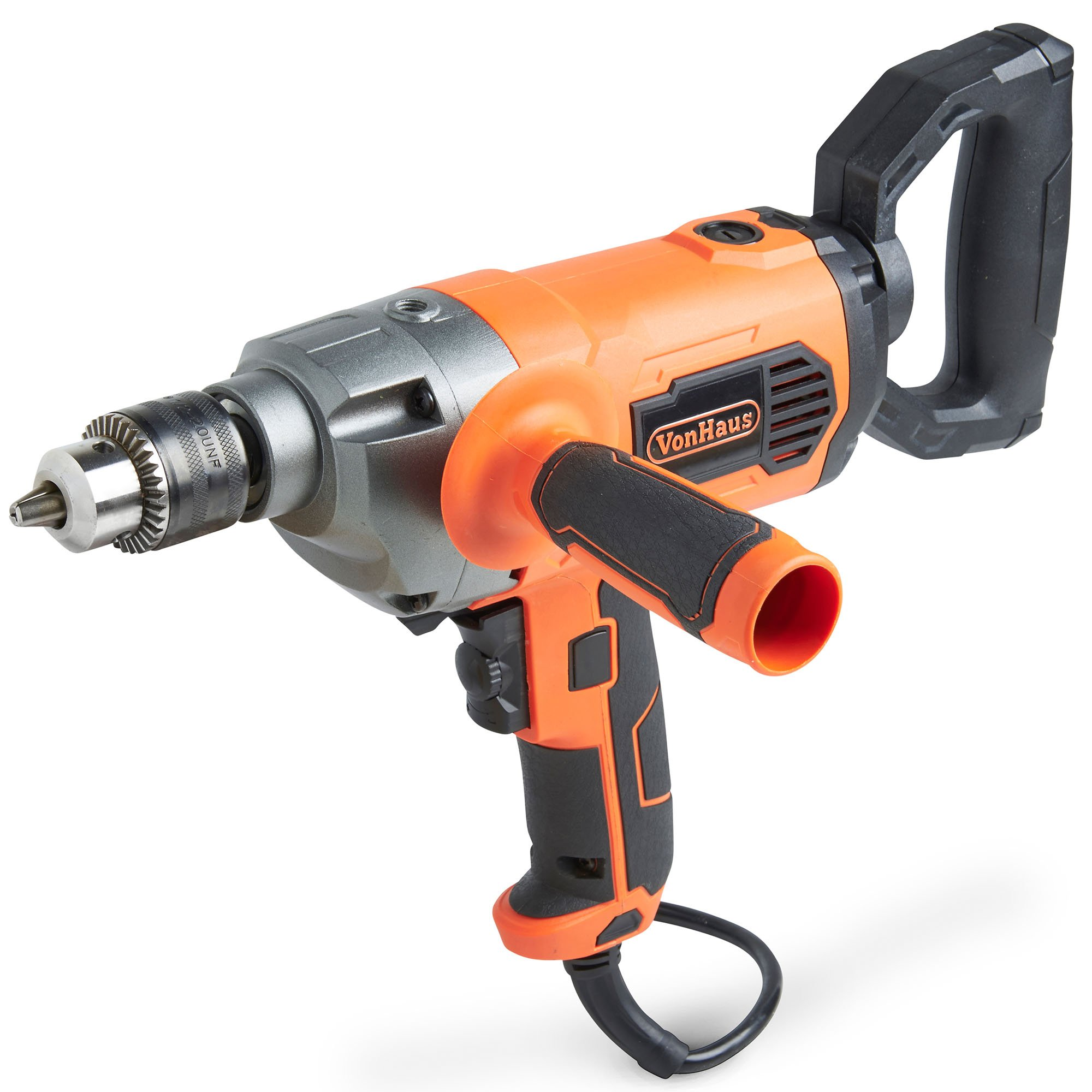 """VonHaus 10 Amp 1/2"""" Heavy Duty Drill Mud Mixer with Spade Handle and Variable Speeds For Drilling and Mixing"""