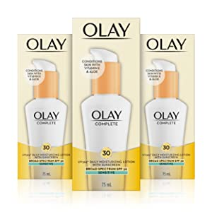 Olay Complete Lotion Moisturizer with Sunscreen SPF 30 Sensitive