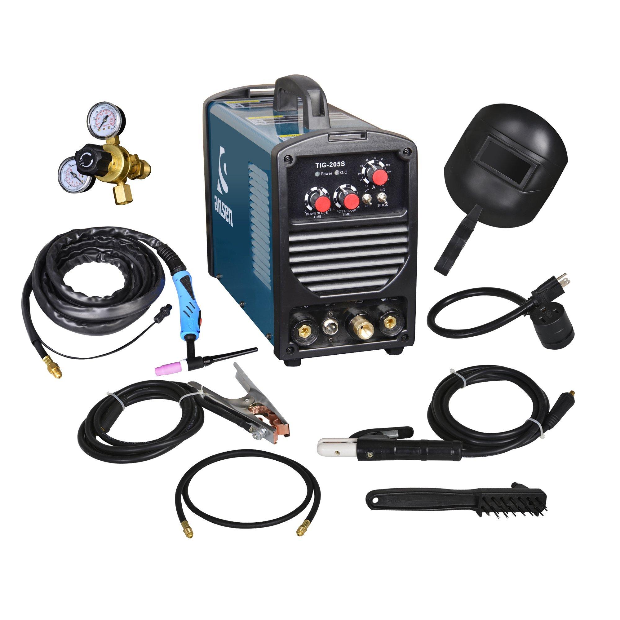 Ansen Portable IGBT Inverter Welder 115V/230V Dual Voltage TIG&STICK DC Welding Machine (200AMP)