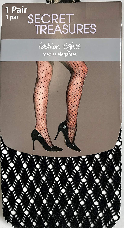 1 Pair Black Plus Size 4 Secret Treasures Womens Mini Argyle Tight
