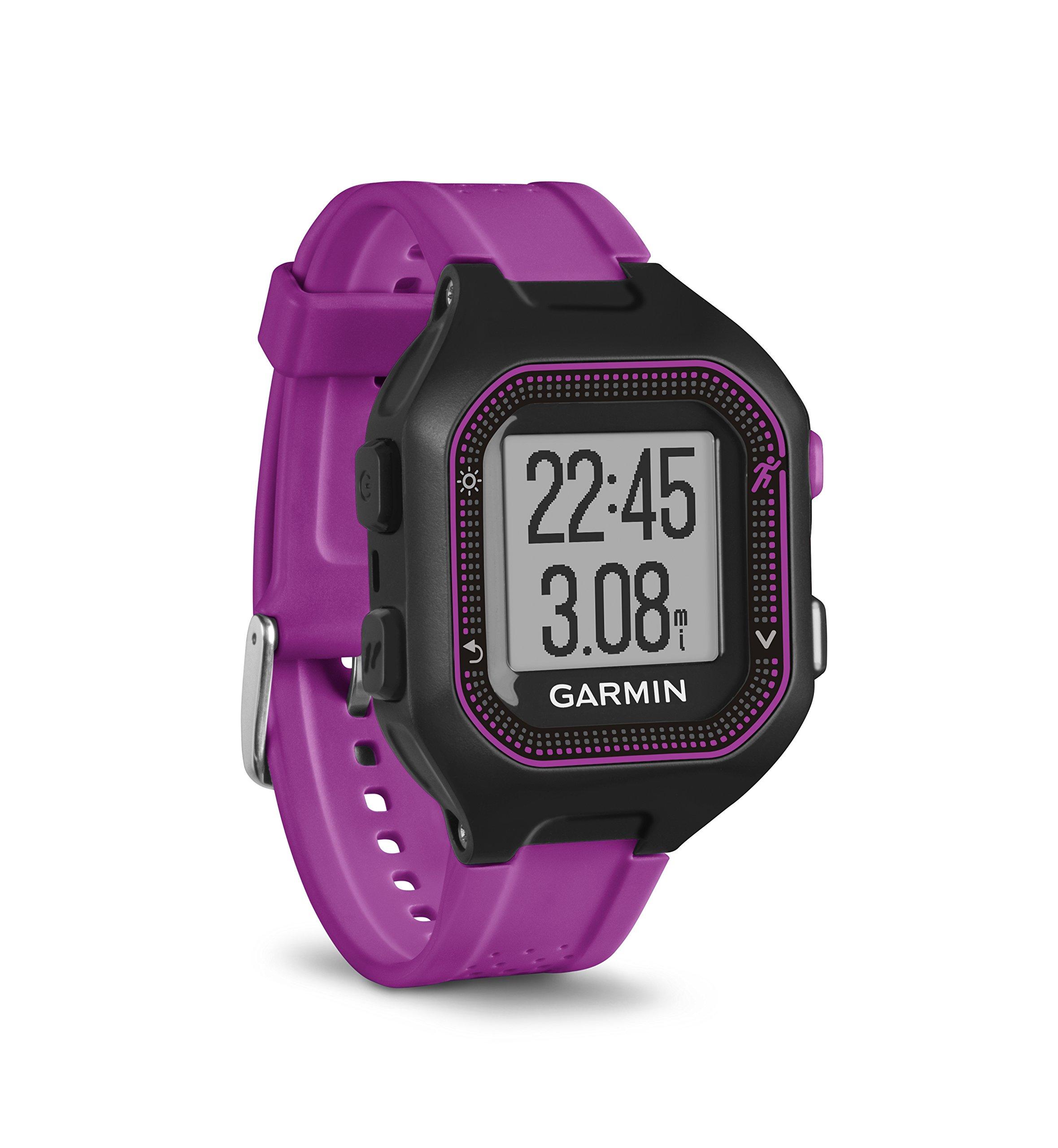 Garmin Forerunner 25, Small - Black and Purple by Garmin