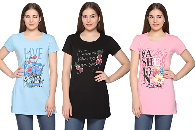 T-Shirt Casual Cotton T Shirts Girls Tops Caseal Fitness
