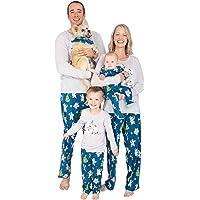 Nite Nite Munki Munki Colección de Pijama de día Festivo de Invierno a Juego, Osos Polares Zapatillas para bebé y niño…