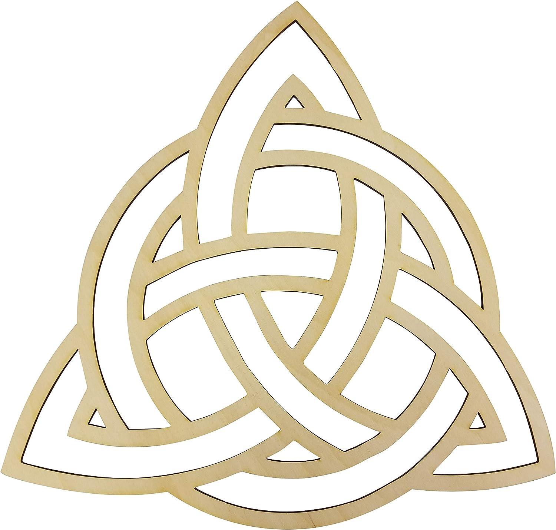 "12"" Celtic Trinity Knot Wall Art | 12"" Diameter - 1/8"" Thick | Wooden Wall Art, Crystal Grid, Zen Wall Art, Wooden Art, Wooden Wall Art Decor | Sacred Geometry Art, Geometry Art"