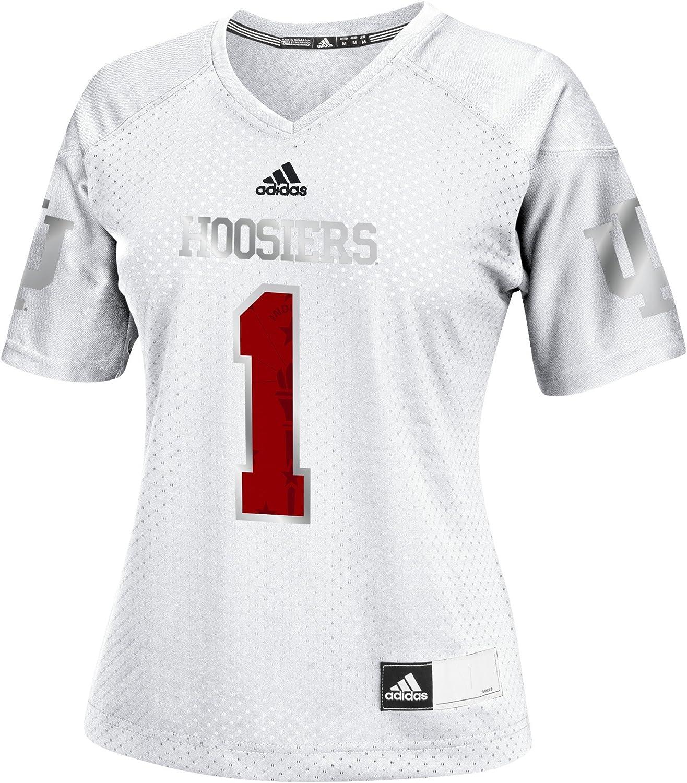 adidas Adult Women NCAA Replica Football Jersey, Medium, Black, Indiana Hoosiers