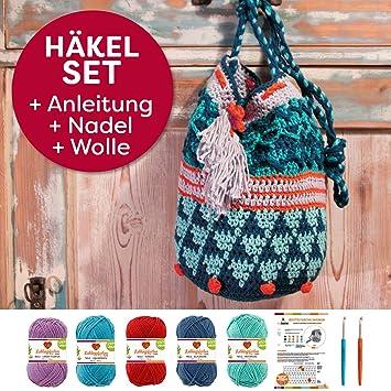 Myboshi Häkeltasche Shunan, Häkel Set: 2 Häkelnadel + Häkelanleitung ...