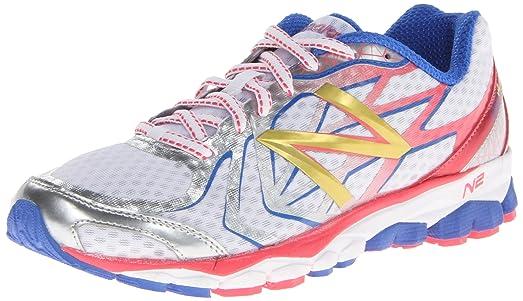 New Balance Women's W1080 Running Shoe,White/Pink,6 ...